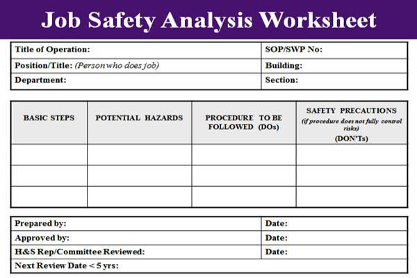 Job Safety Analysis